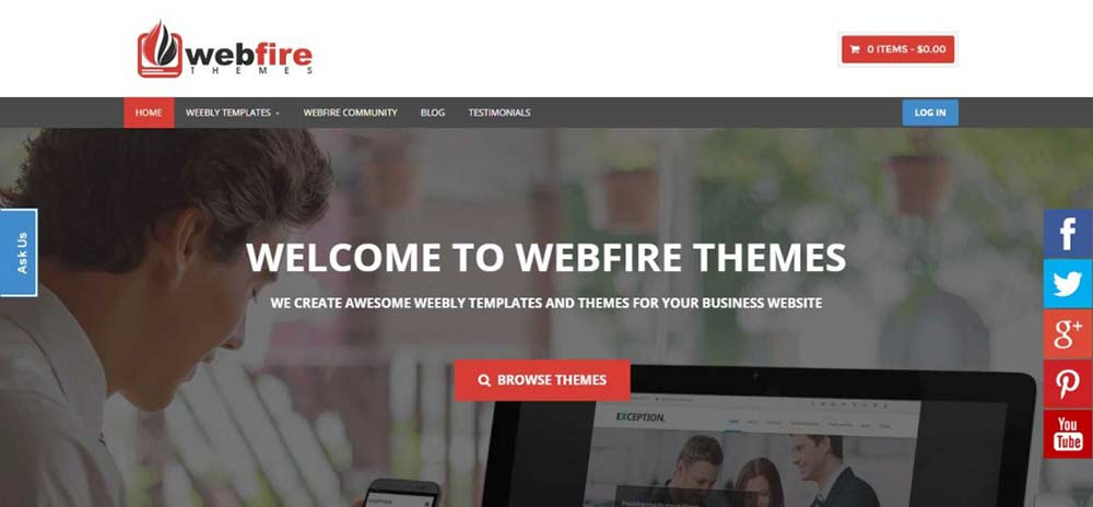 Awesome Weebly Themes and Weebly Templates Webfire Themes 1