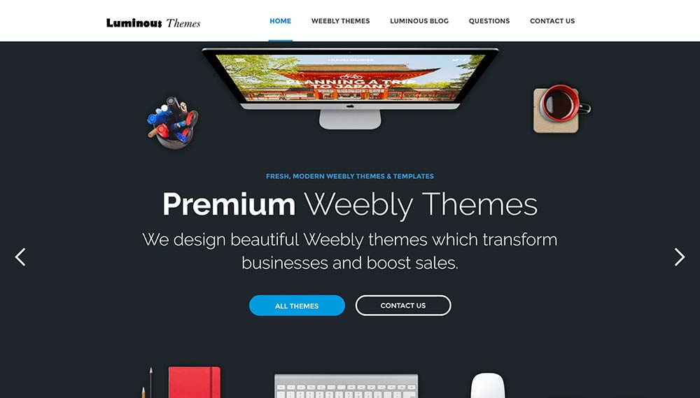 luminous weebly themes
