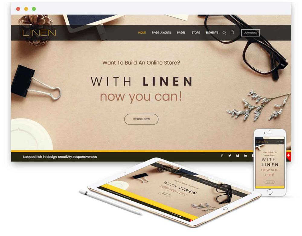 baamboo studio linen weebly theme 1