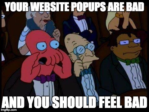 how to get rid of email popups