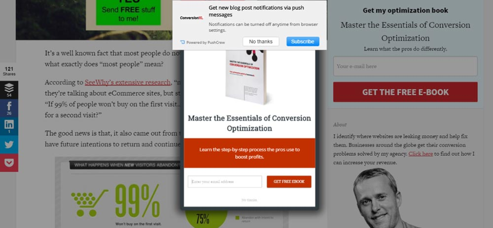 in defense of the email popup NO 1