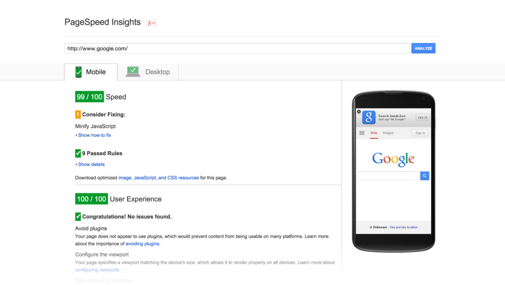 pagespeed insights seo tools