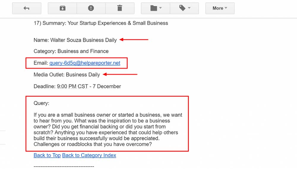haro email enquiry 1