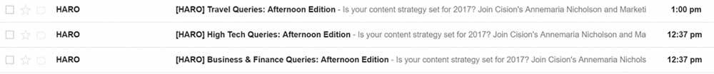 haro emails 1