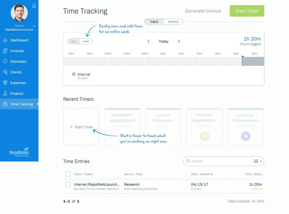 freshbooks review 2017