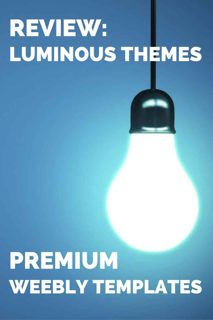 Third party Weebly developers offer some great, high-quality themes that Weebly just can't match. Find out if Luminous Themes is worth your money.