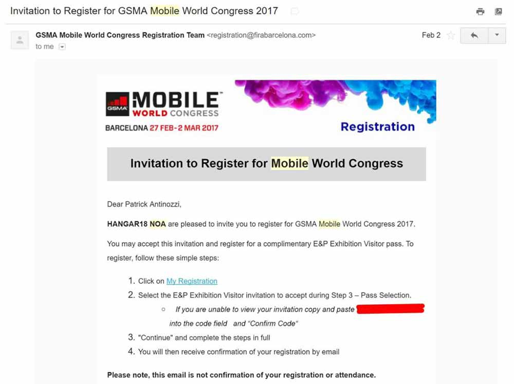 free trip spain mobile world congress 1
