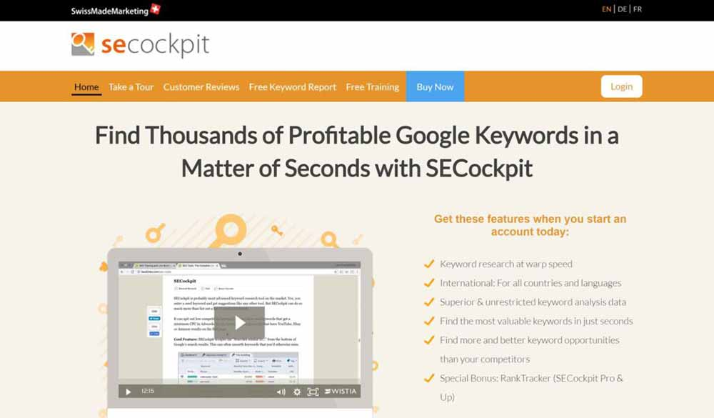 secockpit best keyword research tool 1