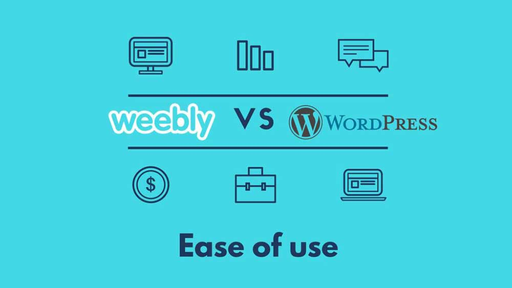 weebly vs wordpress easy to use