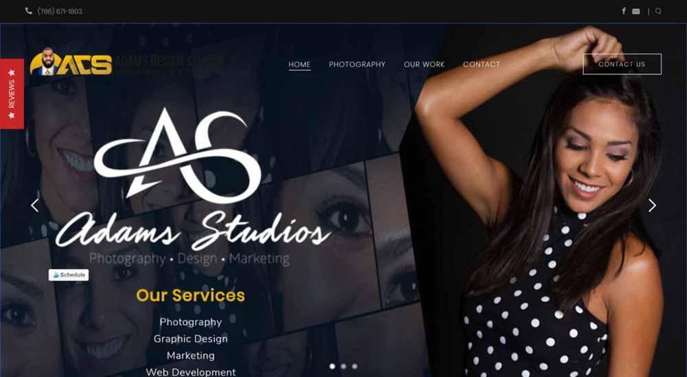 adams studios photography website 1