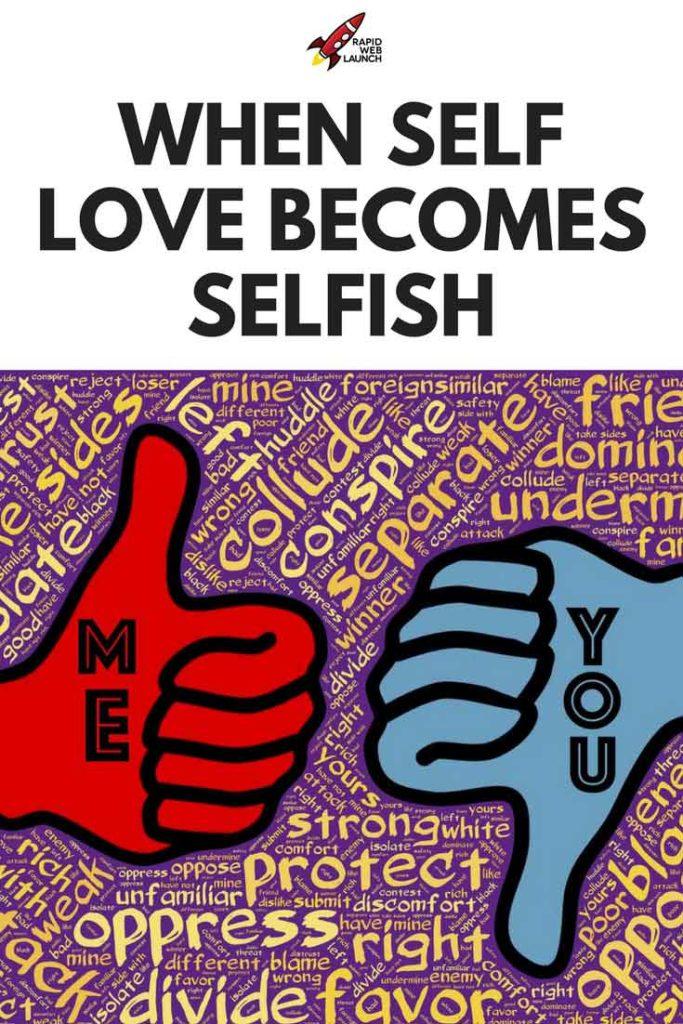 self love selfish