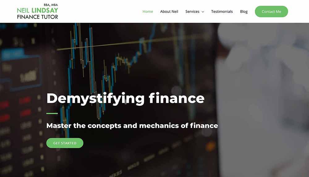 neil finance tutor home page 1