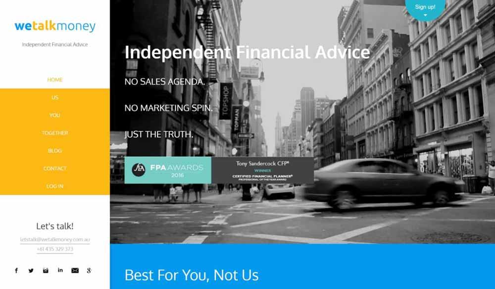 website design for consultants wetalkmoney 1