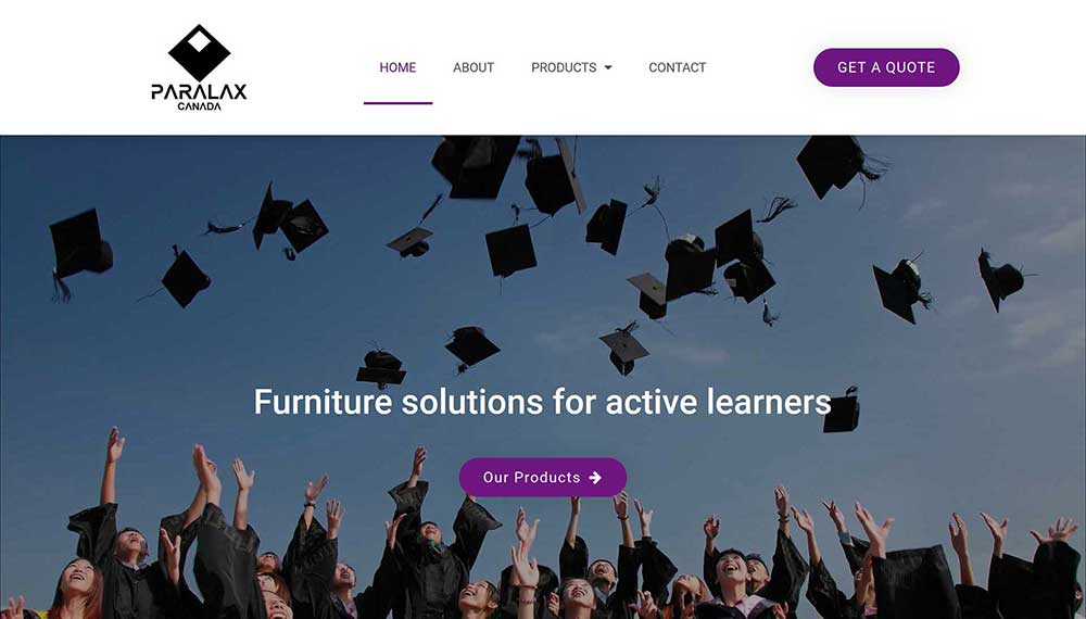 modern website example