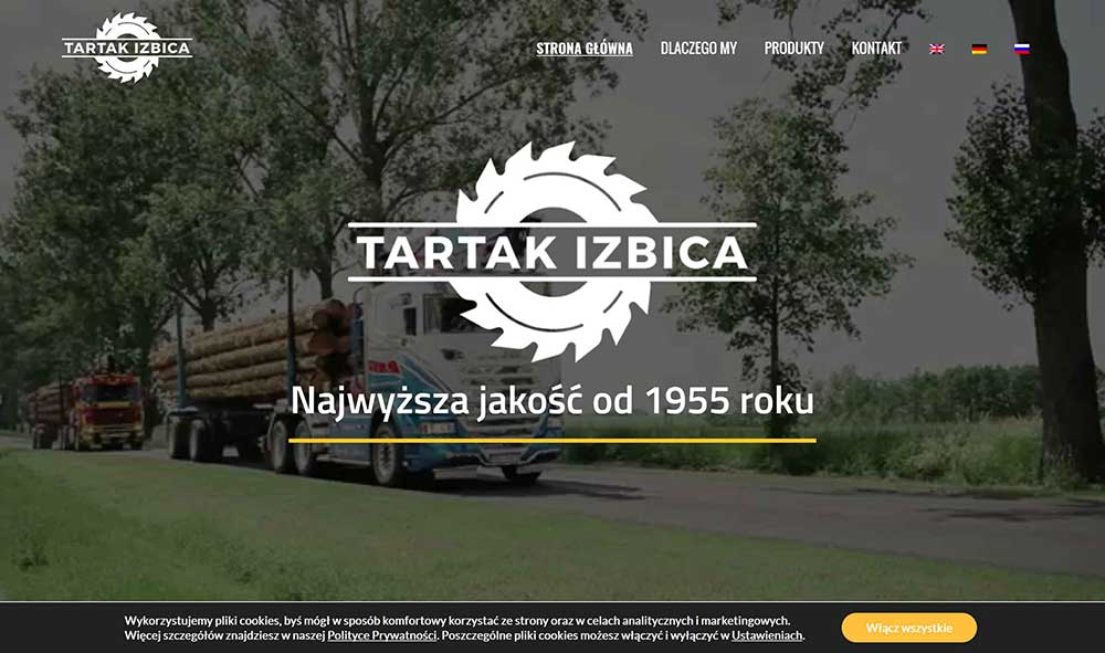 tartak website example 1