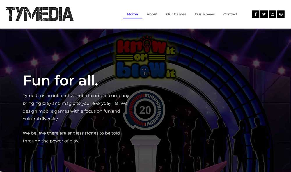 tymedia website example 1