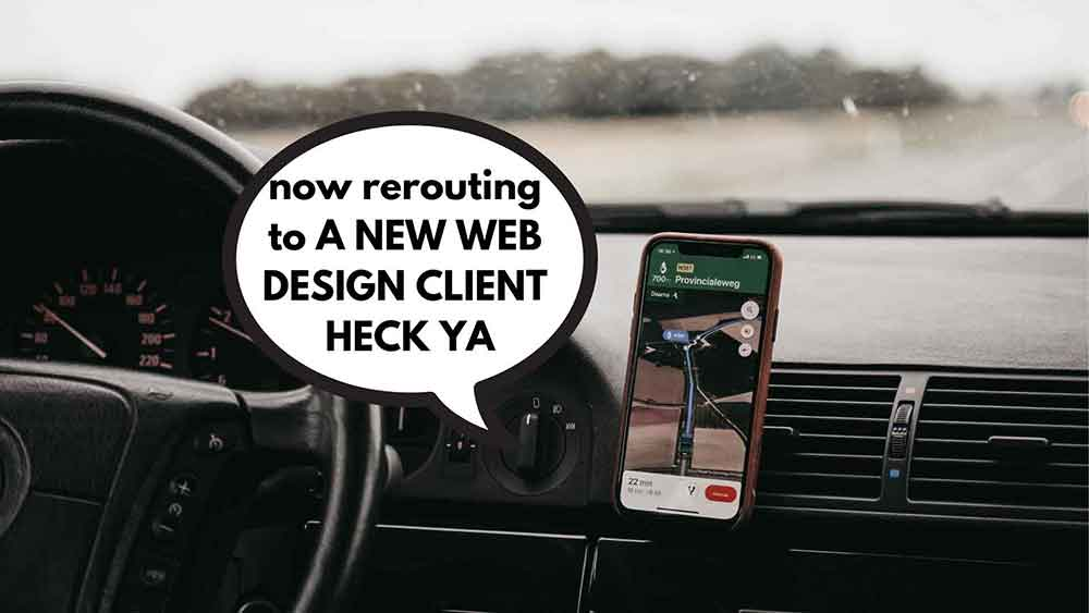 get web design clients