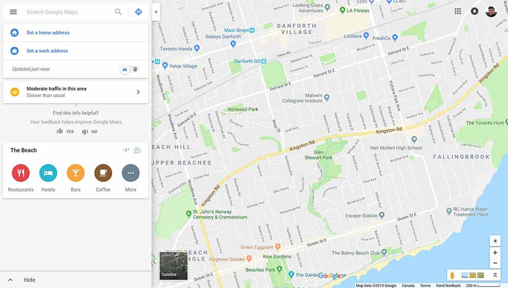web design clients google maps 1