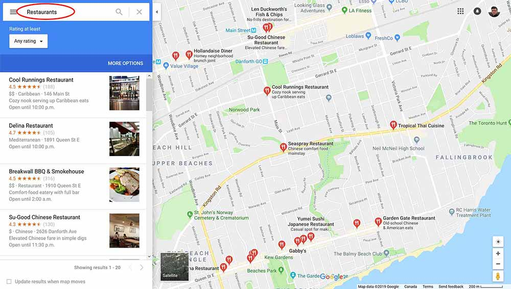 web design clients google maps 2 1