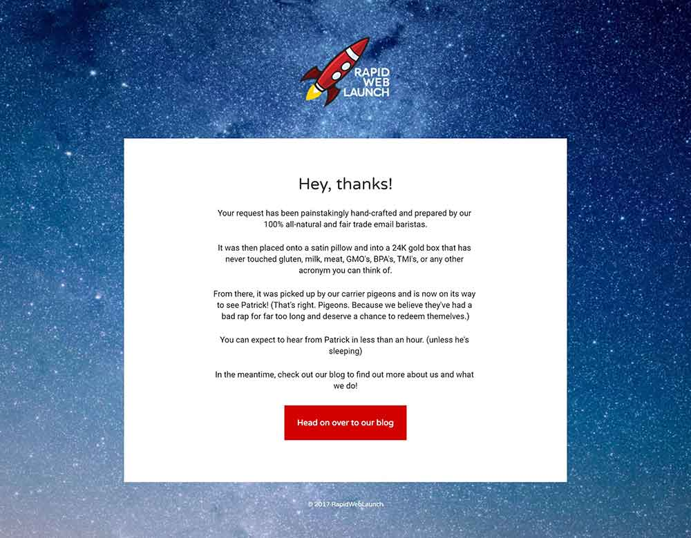 thank you message rapidweblaunch 1