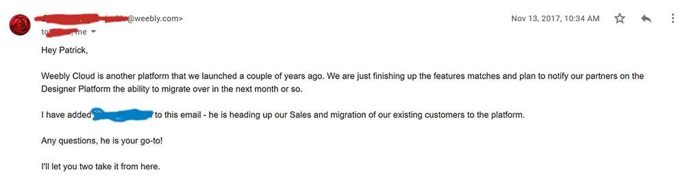 email correspondence 2 alternate 1