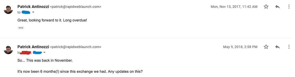 email correspondence 4 1