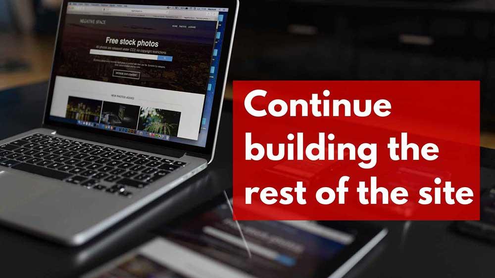 continue building 1