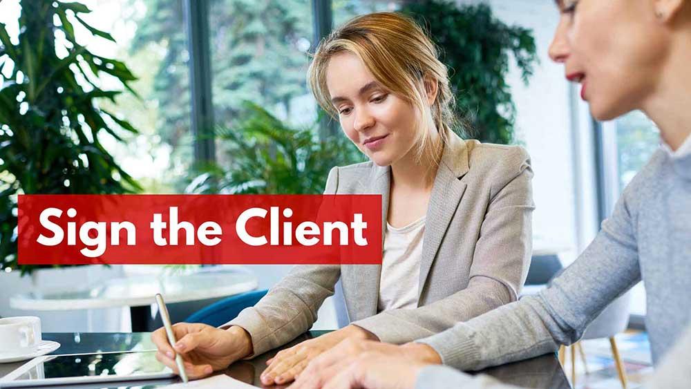 sign client 1