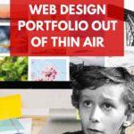 build a web design portfolio