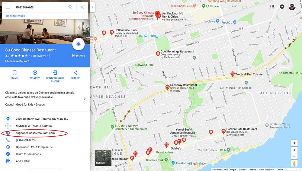 web design clients google maps 4 1