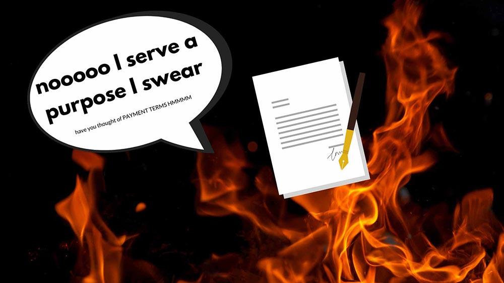 burning web design contract 1
