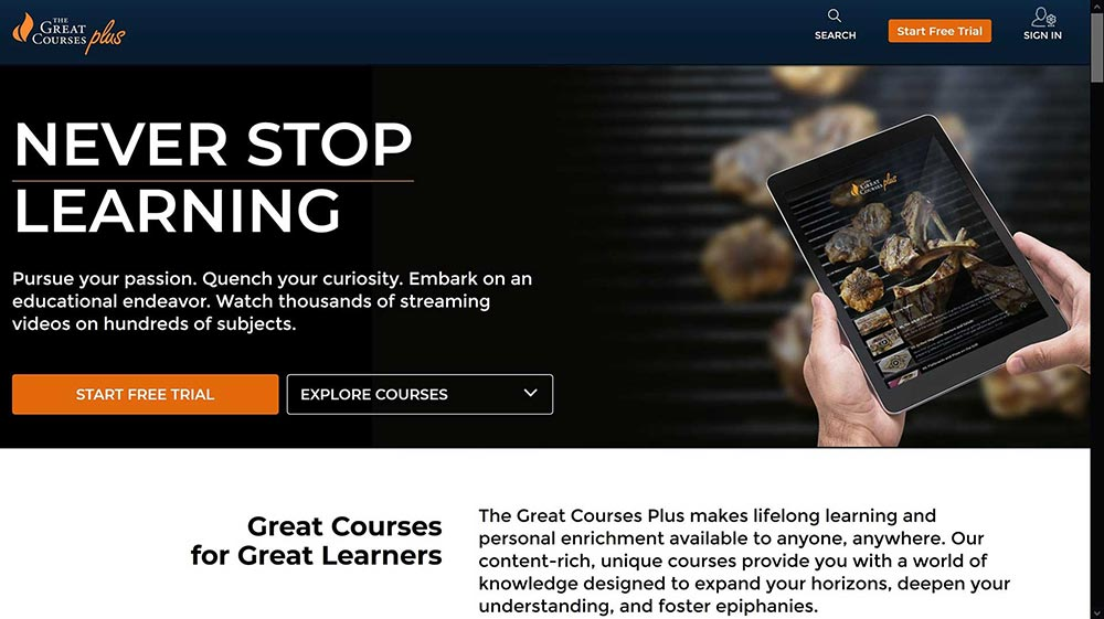 great courses plus streaming service 1
