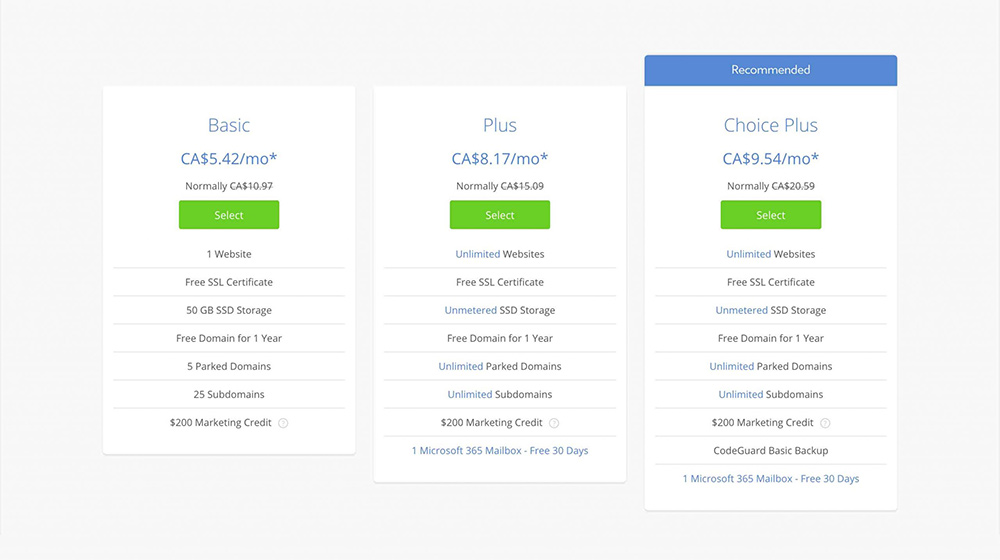 example bluehost pricing 1