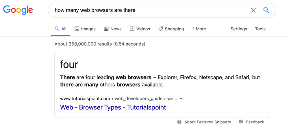 how many web browsers 1