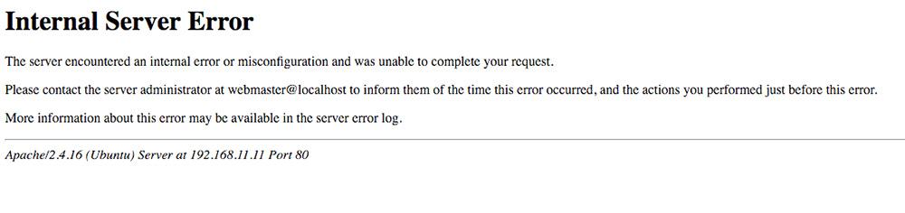 internal server error 1